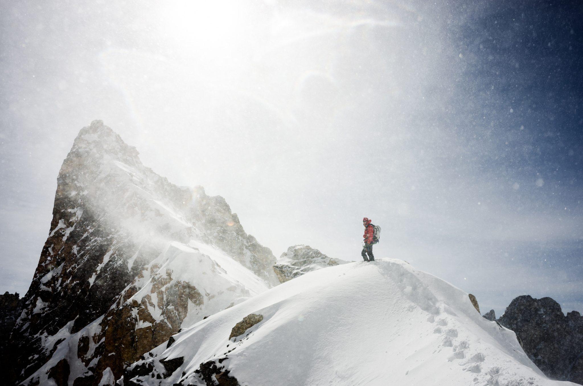 Ski Mountaineering Jeff in the Tetons