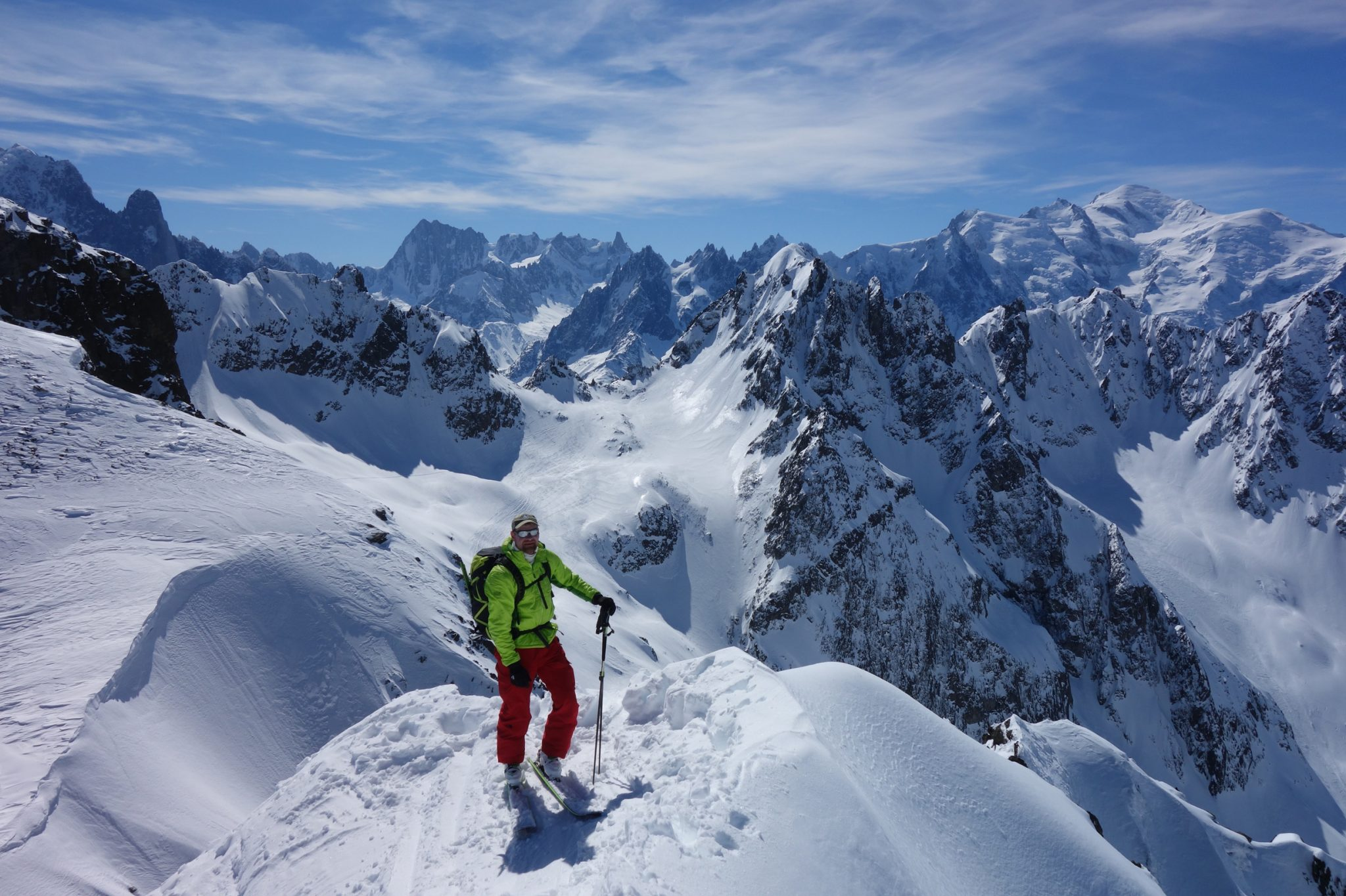 Ski mountaineering in the Aiguilles Rouges