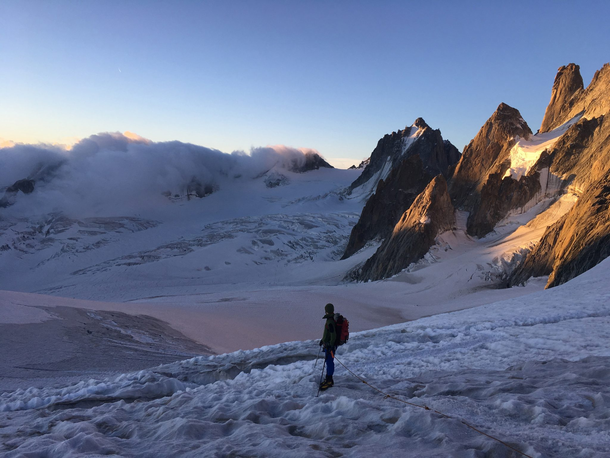 On the glacier in the Vallee Blanche